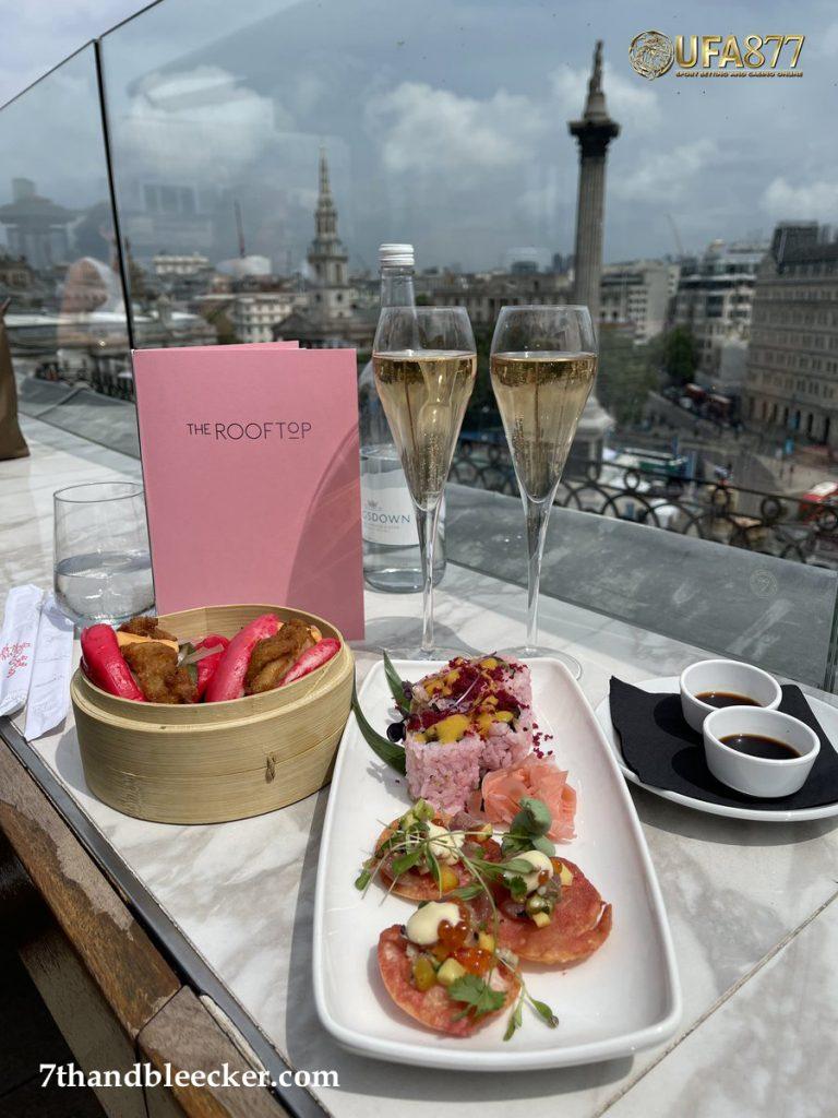 Blush Brunch at The Rooftop Trafalgar Hotel London